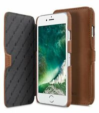 """Melkco Premium Leather Case for Apple iPhone 8 (4.7"""") - BOOKA BROWN H1283"""