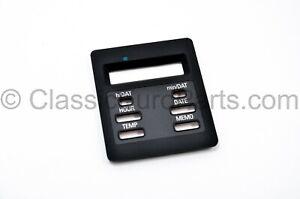 6 button obc digital clock temperature frame bezel dash trim for BMW E28 E30