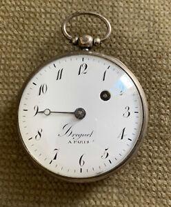 BREGUET a PARIS - Spindel Taschenuhr Silber - 54 mm ca. 1840