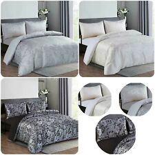 New Luxury 3 Piece (CLEO) Printed Jacquard Duvet/Quilt Cover Set + 2 Pillow Case