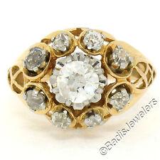 Antiguo Victoriano 18ct Oro 1.25ctw Europeo Mío Anillo Compromiso Corte Diamante