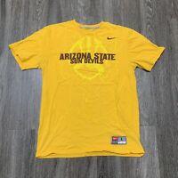 Nike Arizona State Sun Devils Shirt Adult Large Yellow ASU NCAA Football