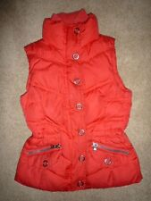 ESPIRIT Bright Red Warm Winter DOWN VEST Jacket Coat Size Women's XS Cute! Ski