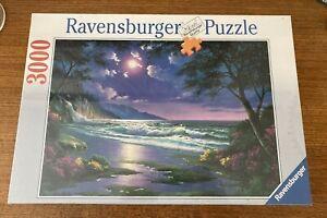 Ravensburger 3000 Piece Jigsaw MOONLIGHT BEACH Puzzle Factory Sealed brand new