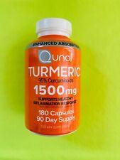 Qunol Turmeric Curcumin 1500mg 95% curcuminoids180 capsules exp 10/2023