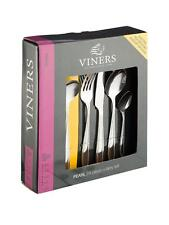 Viners Pearl 24 Piece Boxed Cutlery Set 18/0 Stainless Steel 25 Year Guarantee