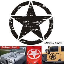 1pc Universal Black Star Pattern Decal DIY Vinyl Car Stickers 50x50cm Waterproof