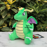 "Shiny Dragonite 8"" Dragon Plush Stuffed Toy Cartoon Soft Doll"