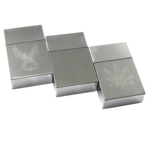 Cigarette Case Tin King Size Metal Box Holder Leaf Sleeves Big Tobacco 20 Cigare