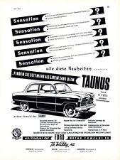 Ford Taunus Schweiz XL Reklame 1953 Ford Willy Zürich Bern Luzern Werbung