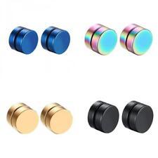 4 Pairs 8mm Stainless Steel Magnetic Stud Earring for Men Women Non Piercing