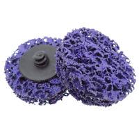 """10PCS 2"""" Quick Change Roloc + Easy Strip & Clean Discs Purple"""