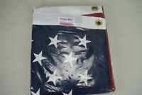 NOS Valley Forge United States Flag 3'x5' Perma-Nyl Embroidered Stars No Box
