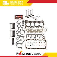 Head Gasket Set Intake Exhaust Valves Fit 86-95 Suzuki Samurai Swift 1.3L G13BA