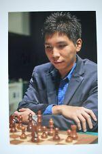 Gm Wesley tan signed 20x30cm foto autógrafo Autograph ip7 Grandmaster Chess