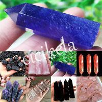 DIY Natural Hexagonal Amethyst Quartz Crystal Rock Stone Minerals Collectables