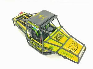 NEW: Losi Night Crawler SE 1/10 Rock Crawler GREEN Body w/ Cage & LED Light Set