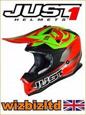 JUST1 MX Helmet J32 PRO - Rave Red-Lime  - Large JUS311L