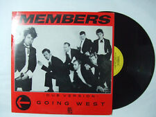 """The Members – Going West (Dub Version) - Disco Mix 12"""" Vinile Stampa UK 1983"""