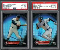 2011 Topps #PNR4 DEREK JETER Prime 9 Player Of The Week PSA 10 GEM MINT (2) CARD