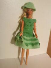 Vestiti bambole 3tlg. adatto PERLA BARBIE vestito, Custodia + CAPPELLO fatto a mano 6102