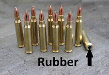 RUBBER cushion Dummy rounds  223 Remington  snap caps x 10