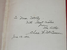 1st Edition HC 1912 CANADIAN HEART SONGS Author Signed McGrossan ILLUSTRATED ART