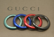 New Gucci 4 Metal Bezel Set - Black, Blue, Red, Green
