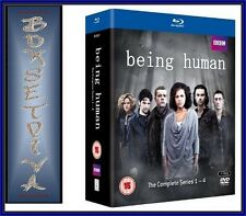 BEING HUMAN - COMPLETE SEASONS  1 2 3 & 4 *BRAND NEW BLU-RAY REGION FREE