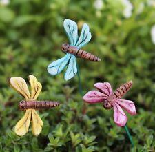Mini Dragonfly in flight set of 3 WS 1445  Miniature Fairy Garden Dollhouse