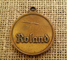 RARE Vintage Brass ROLAND Missile SAM System Pendant Charm Medal Army Tank