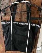 Victoria Secret Pink Large Black Tote Bag