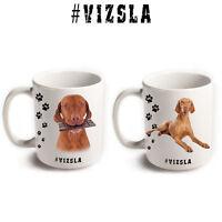 VIZSLA Hungarian Pointer Dog Breed Hashtag Mugs Animal Pet Funny Gift Coffee Tea