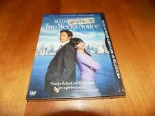 TWO WEEKS NOTICE Hugh Grant Sandra Bullock Romantic Comedy Classic DVD NEW