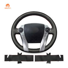 Hand Stitched PU Leather Steering Wheel Cover for Toyota Prius 30(XW30) C V Aqua