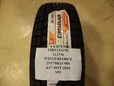 FIRESTONE WINTERFORCE 215 70 15 98S BRAND NEW TIRE 113756