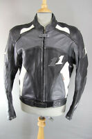 JUST BIKERS LEATHER BIKER JACKET WITH BACK, SHOULDER & ELBOW CE ARMOUR 42 INCH