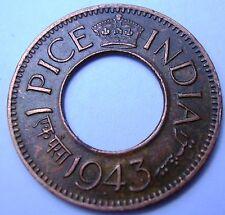 British India 1 pice 1943 (P)