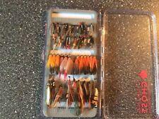 Angeln Angelzubehör Fliegenfischen Lachsfliegen 37 Stück mit passender Box