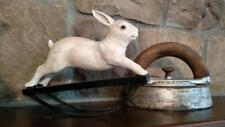 NWT Antique Reproduction ROCKING BUNNY Rabbit Easter Spring Figure Country Decor