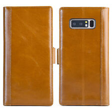 Samsung Galaxy Note 8 Handmade Genuine Leather Flip Wallet Case Cover
