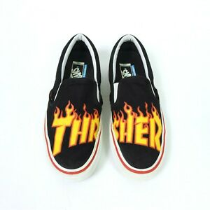 Vans Off The Wall Thrasher Low Top Slip On Skating Trainers Size 8 UK Rare