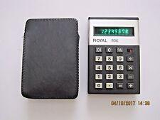 Royal 80K Vintage Calculator with Case and printed manual Model UA 119 EUC!