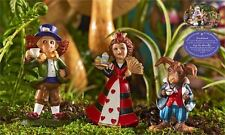 3 Mini World Wonderland Figurines Mad Hatter Queen of Hearts March Hare Fantasy