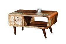 Vintage Retro Wohnzimmer Couchtisch aus Massivholz Sheesham 120cm Top Qualität