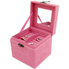 Jewelry Square Storage Organizer Box Display Case For Earring Ring Necklace Gift
