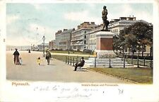BR62714 plymouth drake s statue and promenade   uk