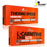 Thermo Speed Hardcore + L-Carnitine 60-180 Caps. Fat Burner Weight Loss Slimming
