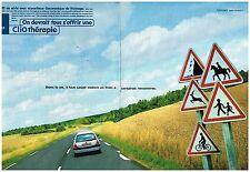 Publicité Advertising 1999 (2 pages) Renault Clio