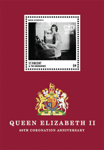 St. Vincent 2013 - SC# 3882 Queen Elizabeth II Coronation Anniversary, S/S - MNH